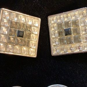 Vintage YSL square earrings